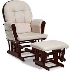An Image of Nursery Chair with Ottoman for Types of Nursery Chairs