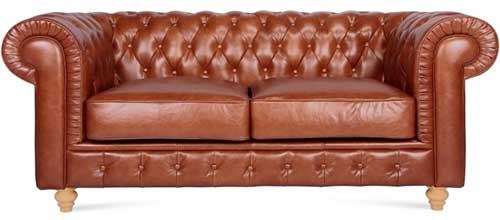 An Image of Two Seater Leather Chesterfield Sofa Types of Chesterfield Chairs