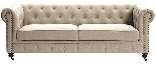 An Image of Chesterfield Two Seater Leather Sofas for Types of Chesterfield Chairs