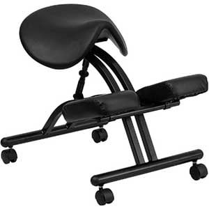 An Image of an ergonomic Kneeling Chair With Saddle Seat