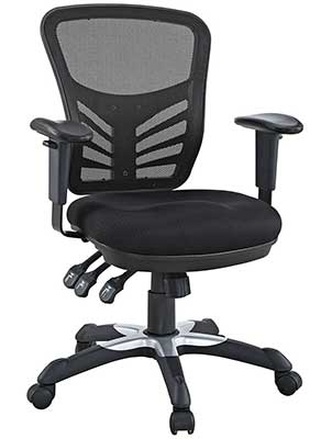 An Image Sample of Mesh Back With No Armrests Drafting Chair