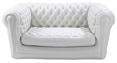 An image of Big Blo 2 Inflatable Sofa in white color