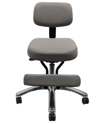 An image of Jobri Deluxe Kneeling Chair in gray fabric