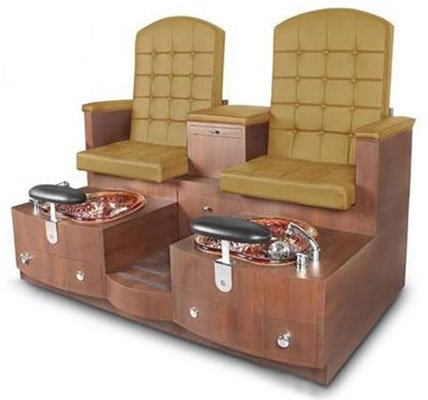 An Image Sample of Curry Variants of Paris Double Bench Spa Pedicure Chair