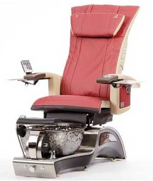 An Image of Red Variants of T4 Stellar Pedicure Chair