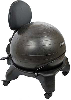 Image of a ball desk chair