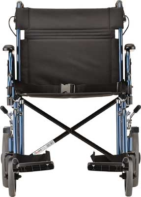 An Image Sample of Blue Variants of NOVA Medical Heavy Duty Transport Wheelchair