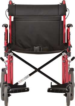 An Image Sample of Front View of NOVA Medical Heavy Duty Transport Wheelchair