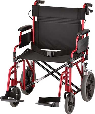 An Image Sample of NOVA Medical Products Transport Wheelchair