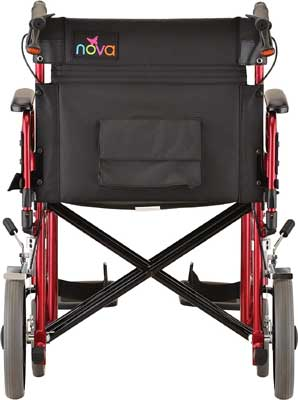 An Image Sample of On-Board Storage of NOVA Medical Heavy Duty Transport Wheelchair