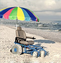 An Image of Outdoor Extreme Mobility Beach Cruiser with Umbrella