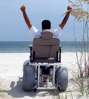 An Image of Having Fun Using Outdoor Extreme Mobility Beach Cruiser