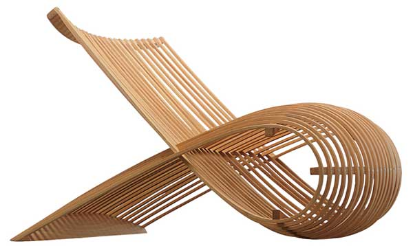 Newson Wooden Chair, made with looped strips of wood