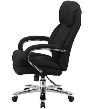 Side view of the Flash Furniture Hercules Series 24/7 Intensive Use Chair