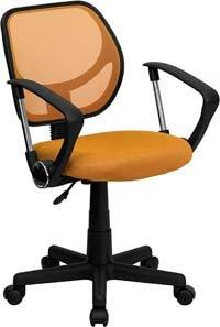 A smaller image of Aurora Petite Office Chair in Orange