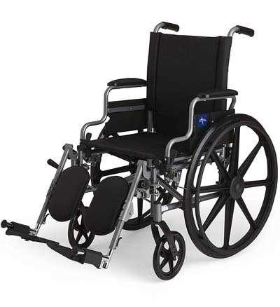 A large image of Medline K4 Basic Manual Wheelchair