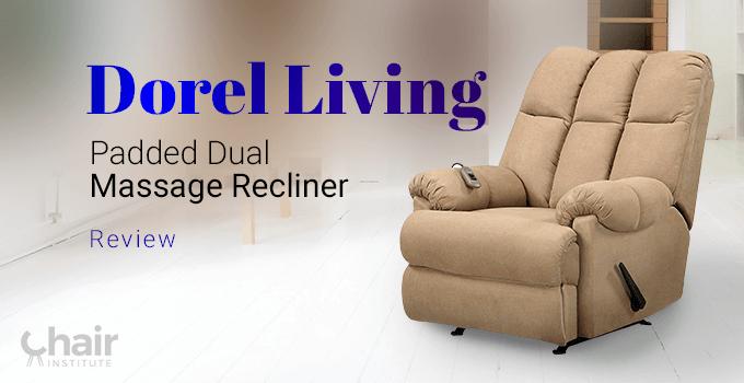 Dorel Living Padded Dual Massage Recliner in a modern living room