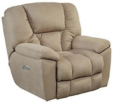 Doe fabric variant of the Catnapper Owens Recliner