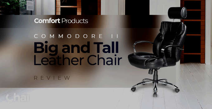 Black Comfort Products Commodore II Big and Tall Leather Chair