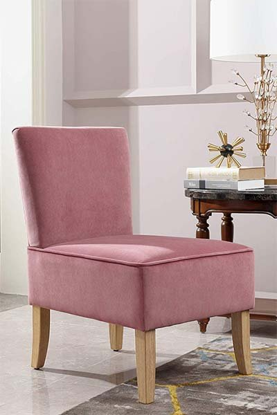 Pink Suede Chair