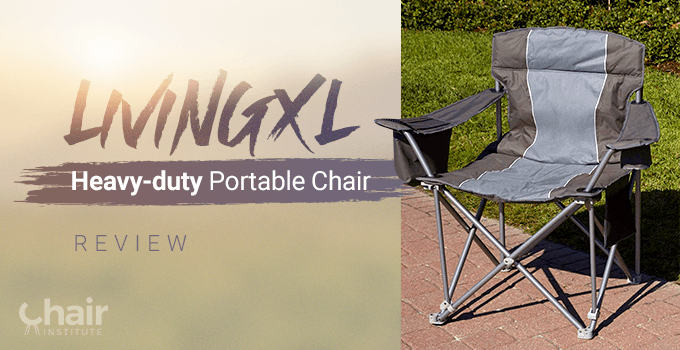 LivingXL Heavy-duty Portable Chair in an outdoor setting
